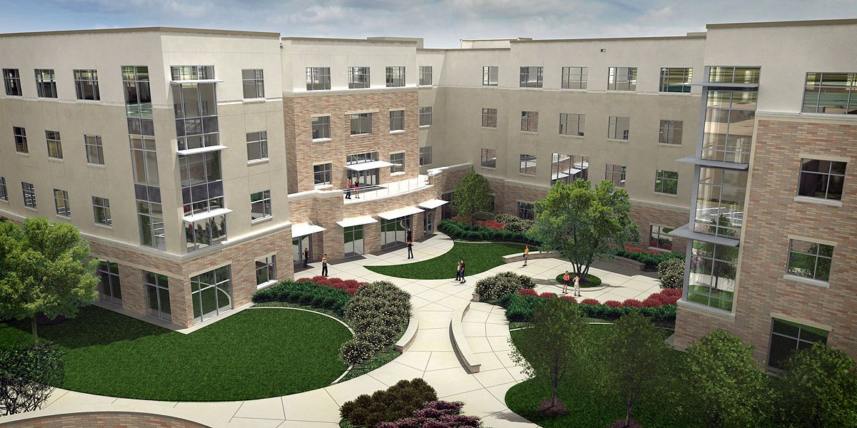 This is a new student freshman residence hall located on