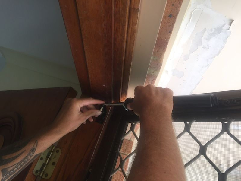 Installing a door closer. nooks & cranny Door