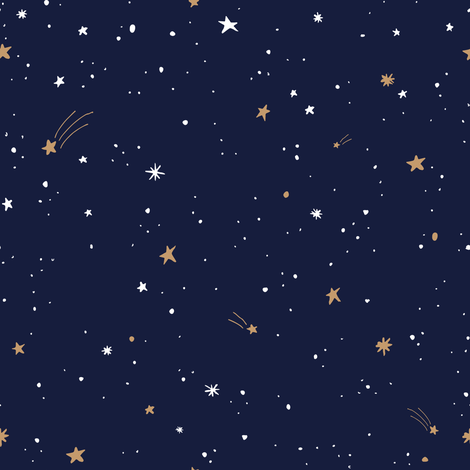 Colorful Fabrics Digitally Printed By Spoonflower Starry Sky