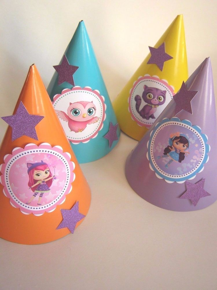 5 Little Charmers Party Hats Birthday Pointy Cone Hats Party Hat