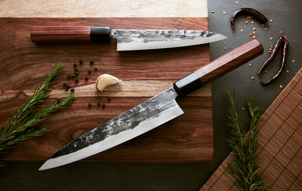 Forge To Table Japanese Style Cooking Knives Touch Of Modern With Images Forging Knife Handmade Knives