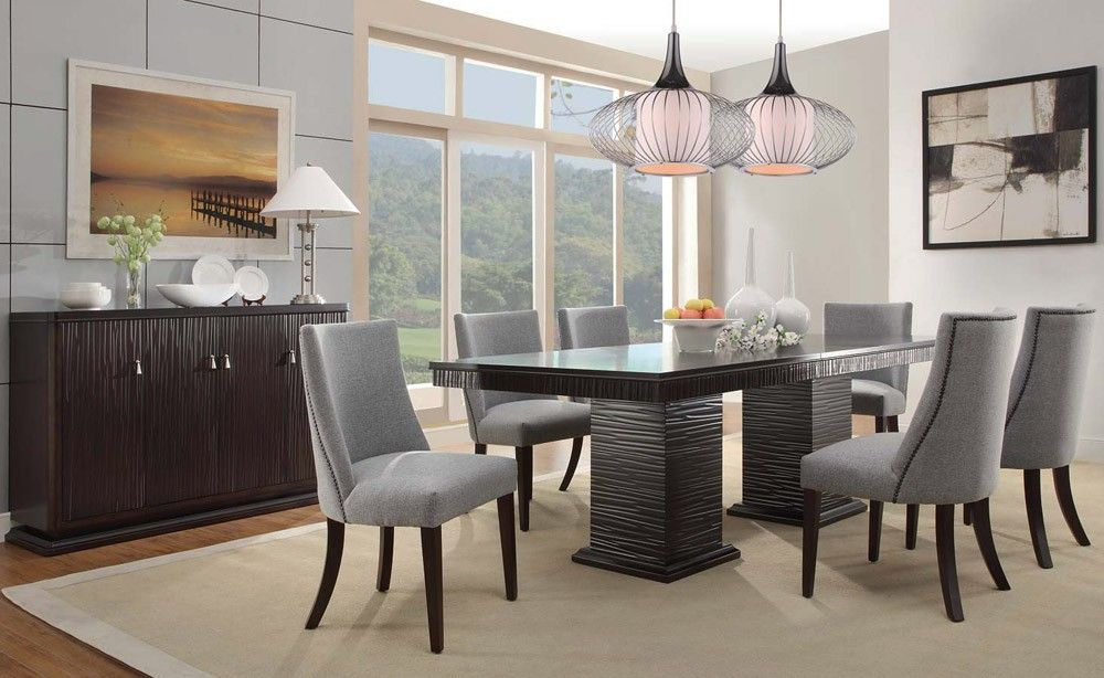 Charming Dining Room For You  Feel The Wilderness Straight From Gorgeous Formal Contemporary Dining Room Sets Inspiration Design