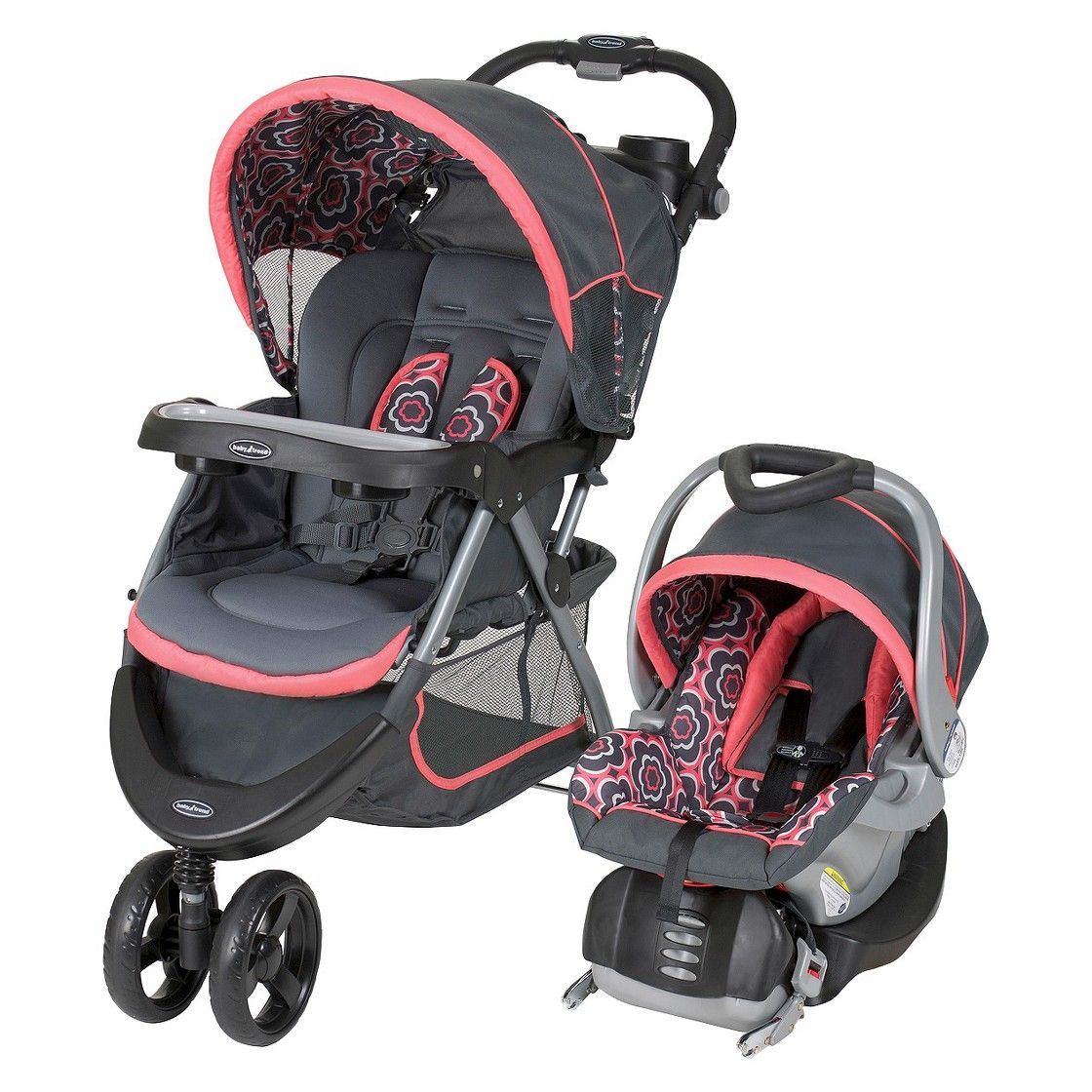 Baby Trend Nexton Travel System Coral Floral Remington