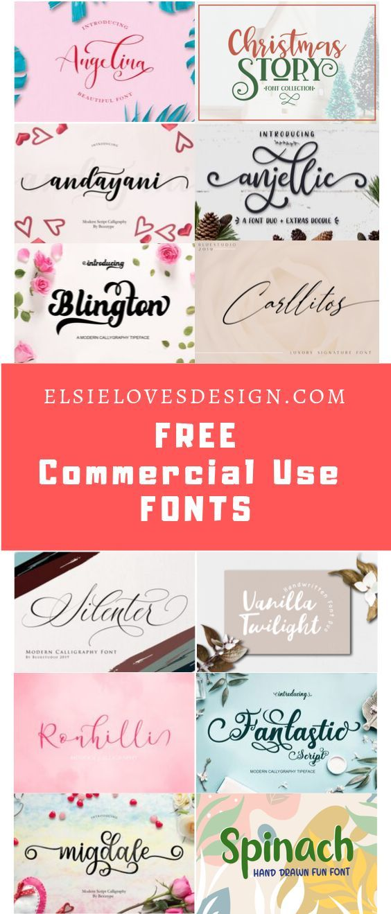 Download Free Font Bundle (Bundle | Free commercial fonts ...