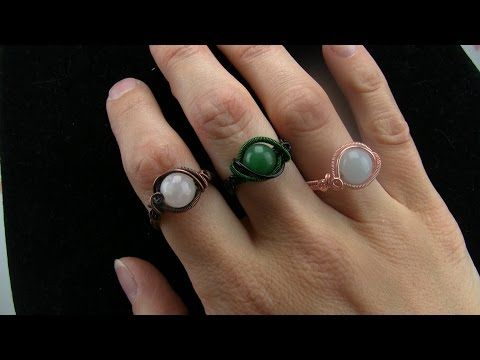 Wire Wrapping Tutorial: Begginer Gemstone Bead Ring - YouTube