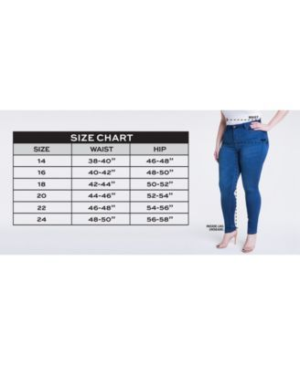 be7a424e3e2 Celebrity Pink Petite Plus Size Infinite Stretch Dawson Super-Skinny Jeans  - Blue 20WP