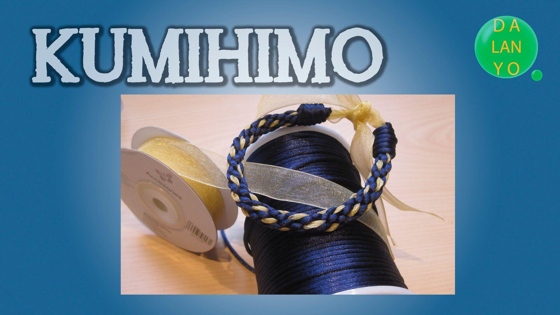 Pulsera azul con lazo ocre | Kumihimo | Tutorial | DIY | Es.Pandahall.com