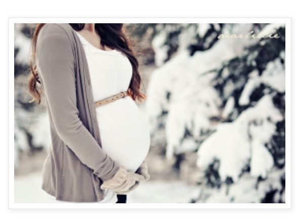 Winter maternity pic