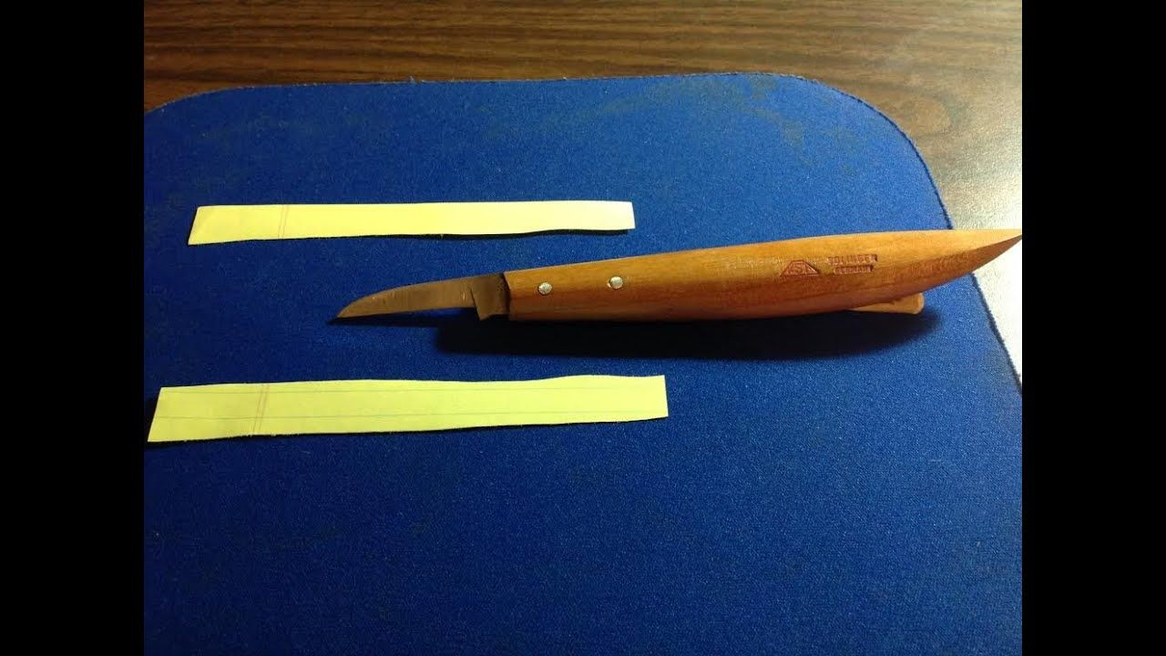 How to sharpen your carving knives to Razor Sharp ...