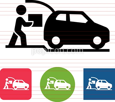 Car With Trunk Open Curbside Pickup Vector Icon Vector Icons Icon Pictograph