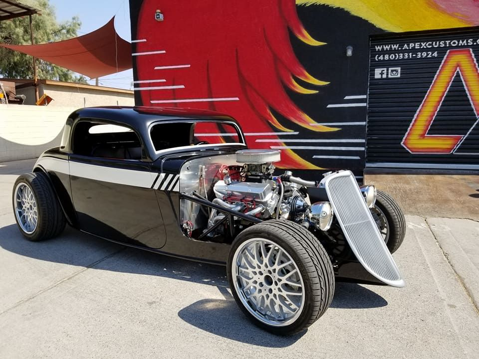 1933 Factory Five Hot Rod Wrapped in 3M Gloss Black Metallic