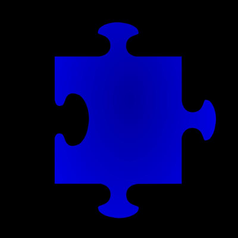 Free Clipart: Blue Jigsaw Piece 05