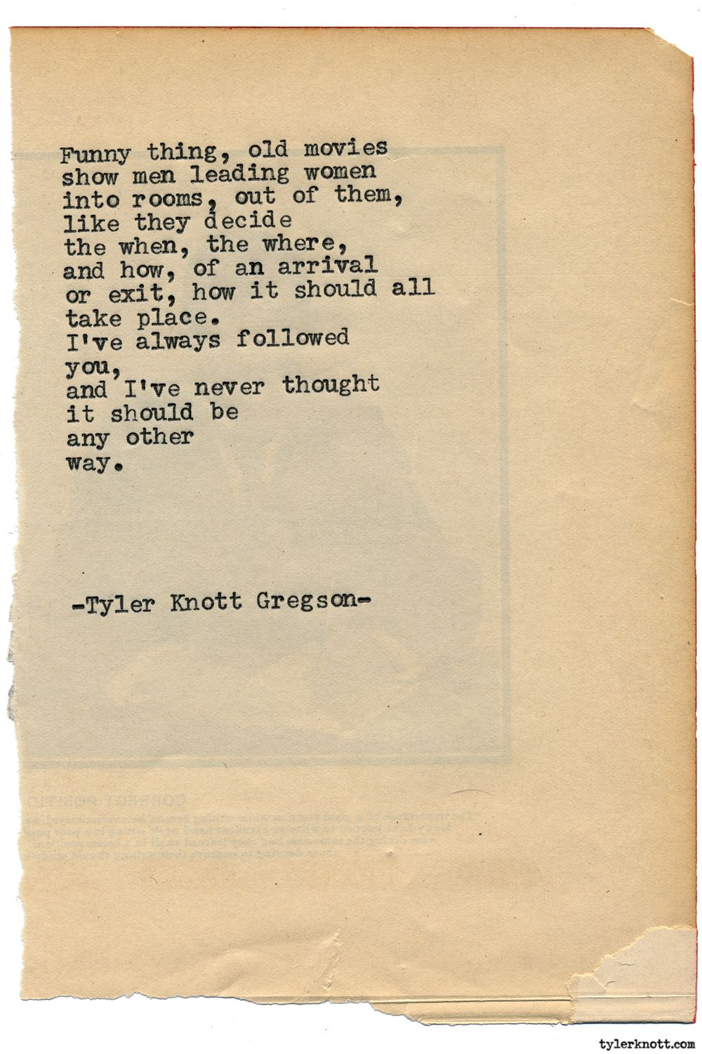 Typewriter Series #1790 by Tyler Knott Gregson