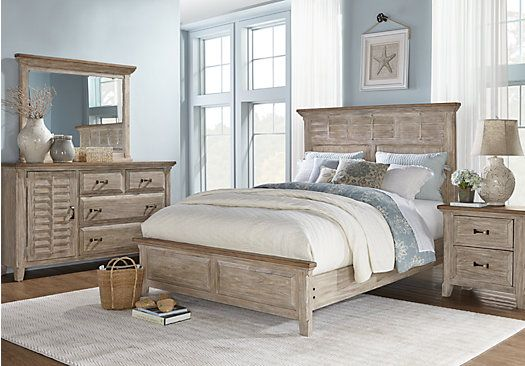 picture of Nantucket Breeze White 5 Pc Queen Panel Bedroom from ...