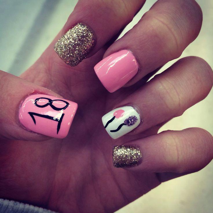 Birthday Themed Nail Arts Birthday nails Birthdays and Nail nail