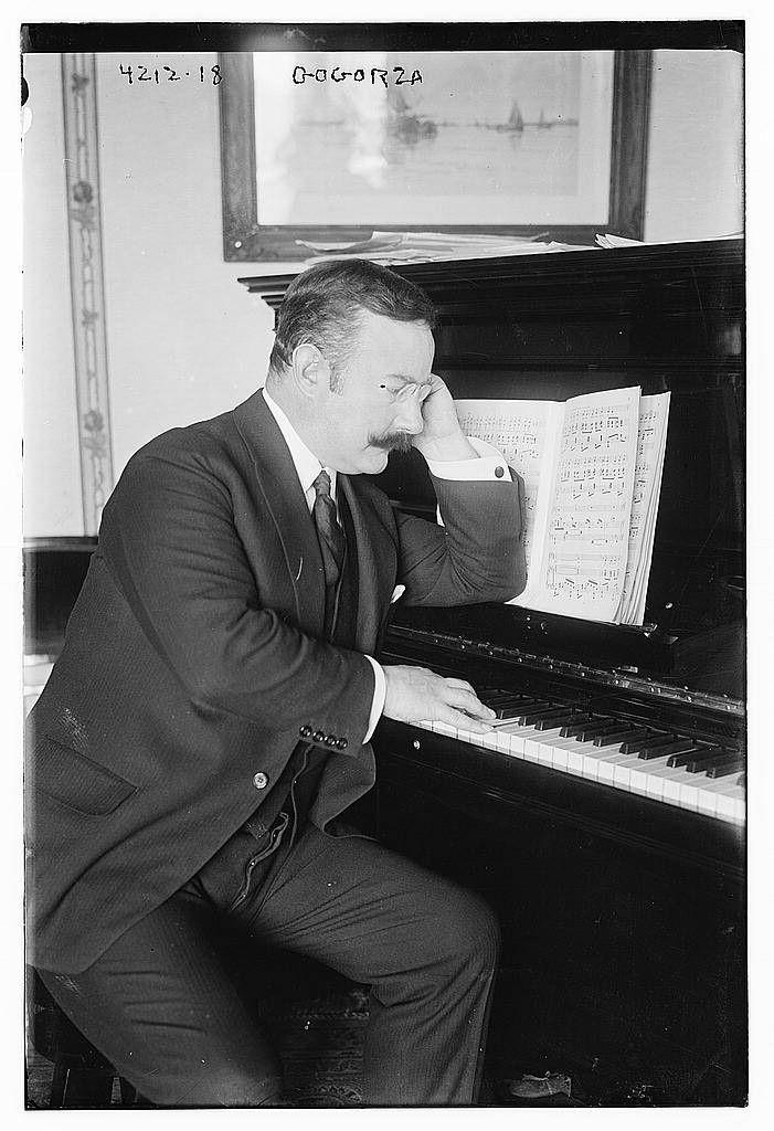 Gogorza at piano (LOC) Library of congress, Piano, Photo
