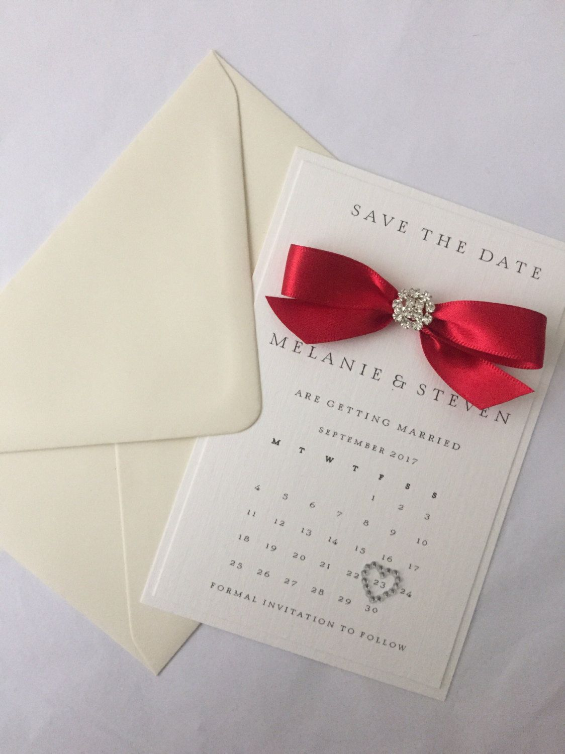Hamilton collection SAMPLE wedding save the date card with   save ...