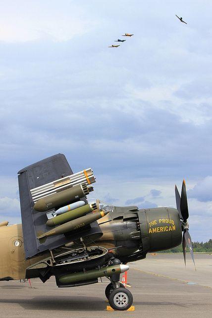 Skyraider with Texan break by spookythecat, via Flickr