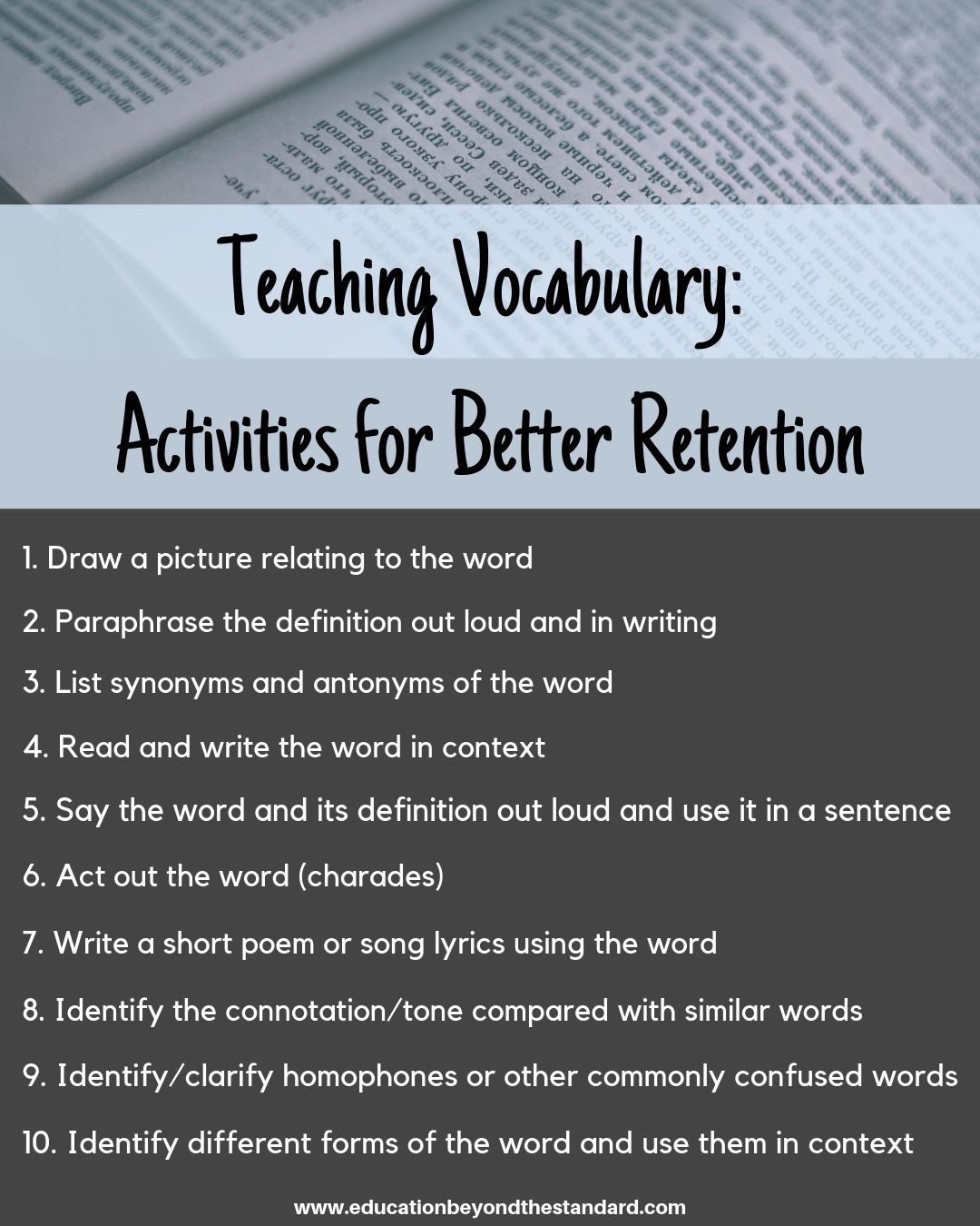 Best Practice And Activitie For Teaching Vocabulary Word Instruction Paraphrasing In Oral Communication