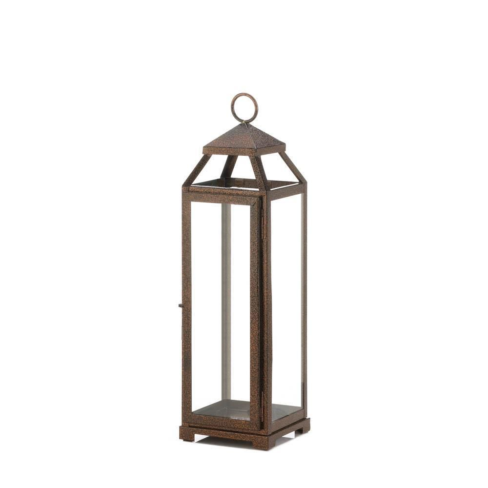 Tall Copper Lantern In 2020 Copper Lantern Candle Lanterns Large Candle Lanterns