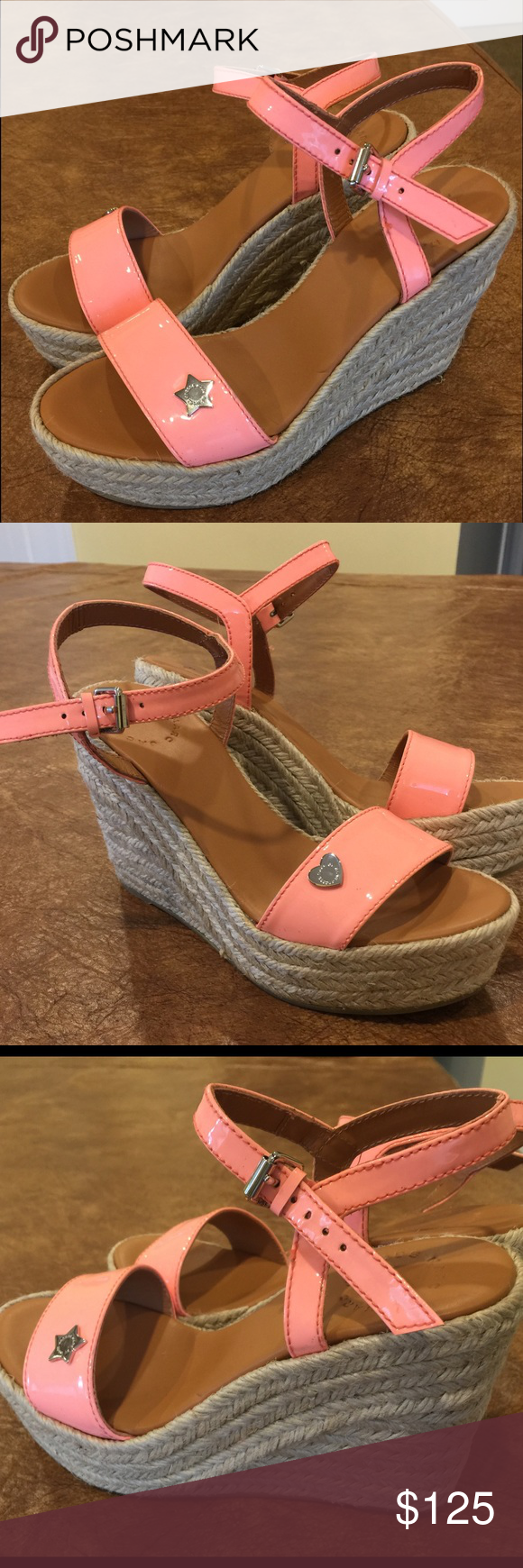 Marc By: Marc Jacob, Hearts & Stars Pink Wedges! Marc By: Marc Jacob, Hearts & Stars Pink Wedges! Size: 36 (6) NWOT!, Show Stoppers! Beautiful Pink Wedges, Hearts & Stars Embellishment! Super Comfy! (No Box) Any Questions please Comment! Marc by Marc Jacobs Shoes Espadrilles