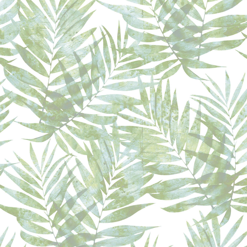 Galerie Organic Textures Tropical Leaves Light Green