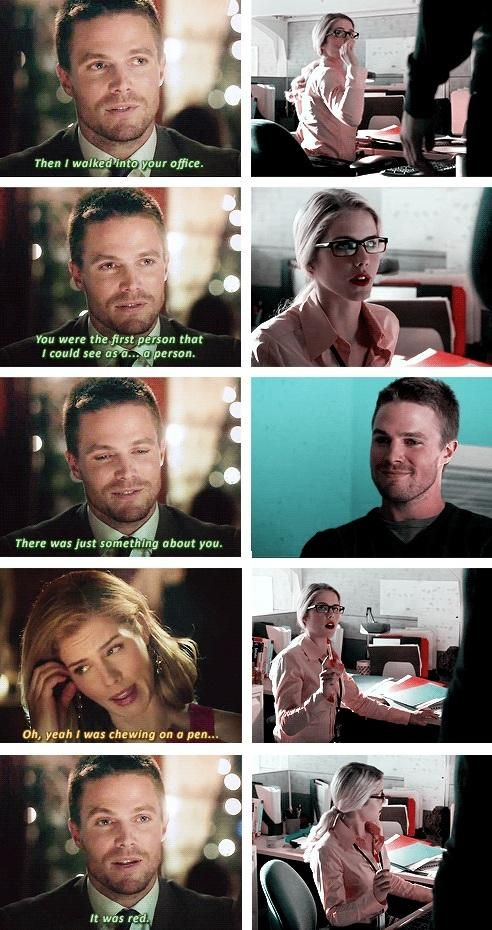 Arrow - Oliver and Felicity #1.3 #3.1 #Olicity ♥ OK THIS SCENE WAS JUST I MEAN OHHH:)