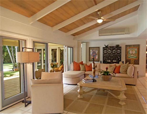 Like The Painted Beams And The Light Wood Ceiling Painted Wood
