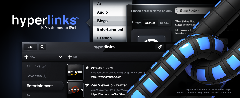Hyperlinks (The Skins Factory) User interface design