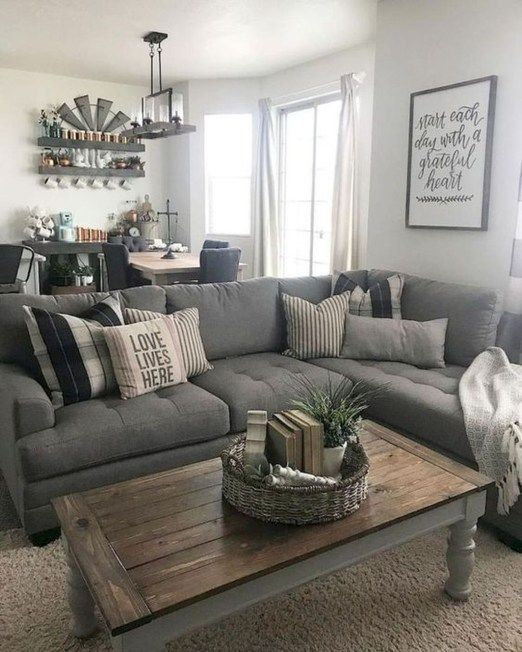46 Cozy Farmhouse Living Room Decor Ideas That Make You Feel In Village images