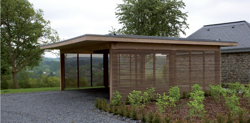 Modern Pergola With Privacy Screen Modern Carport Carport Garage Carport Designs