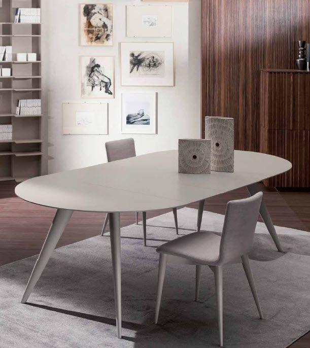 Tavolo Moderno Rotondo.Tavolo Moderno In Frassino Rotondo Allungabile
