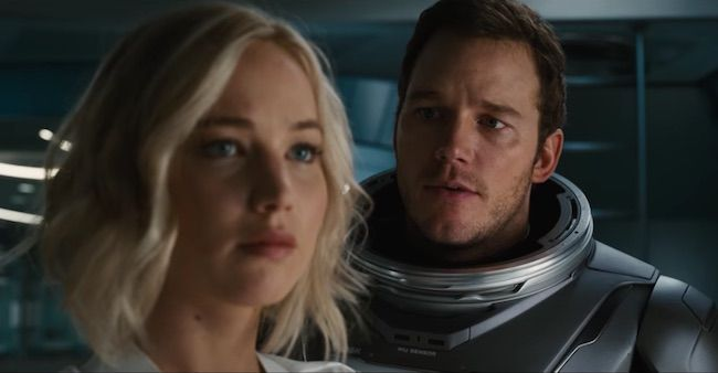 #JenniferLawrence & #ChrisPratt star in the epic first trailer for Passengers