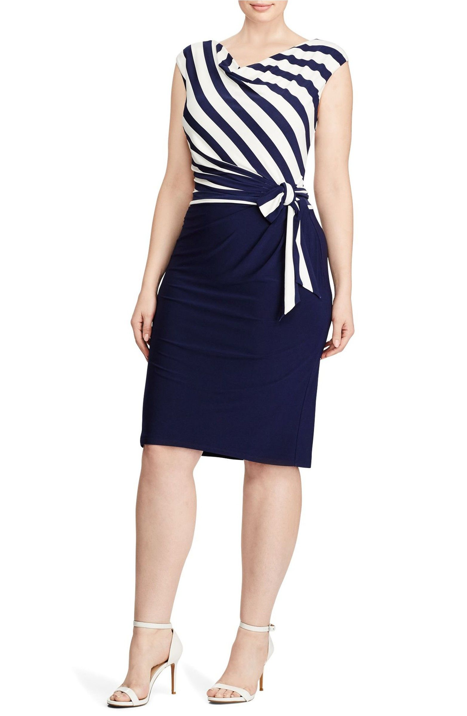 Main Image Lauren Ralph Lauren Sadira Colorblock Dress Plus Size