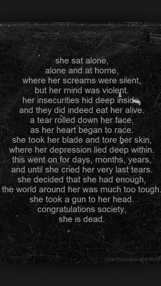Self harm quotes Story of my life Pinterest