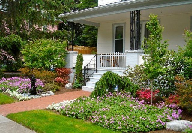 travaux-déco-jardin-devant-maison.jpg (640×443) | extérieur | Pinterest