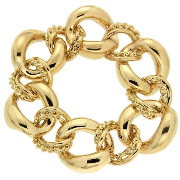 Preowned Twisted Wire And Oval Link Gold Bracelet ($20,700) ❤ liked ...