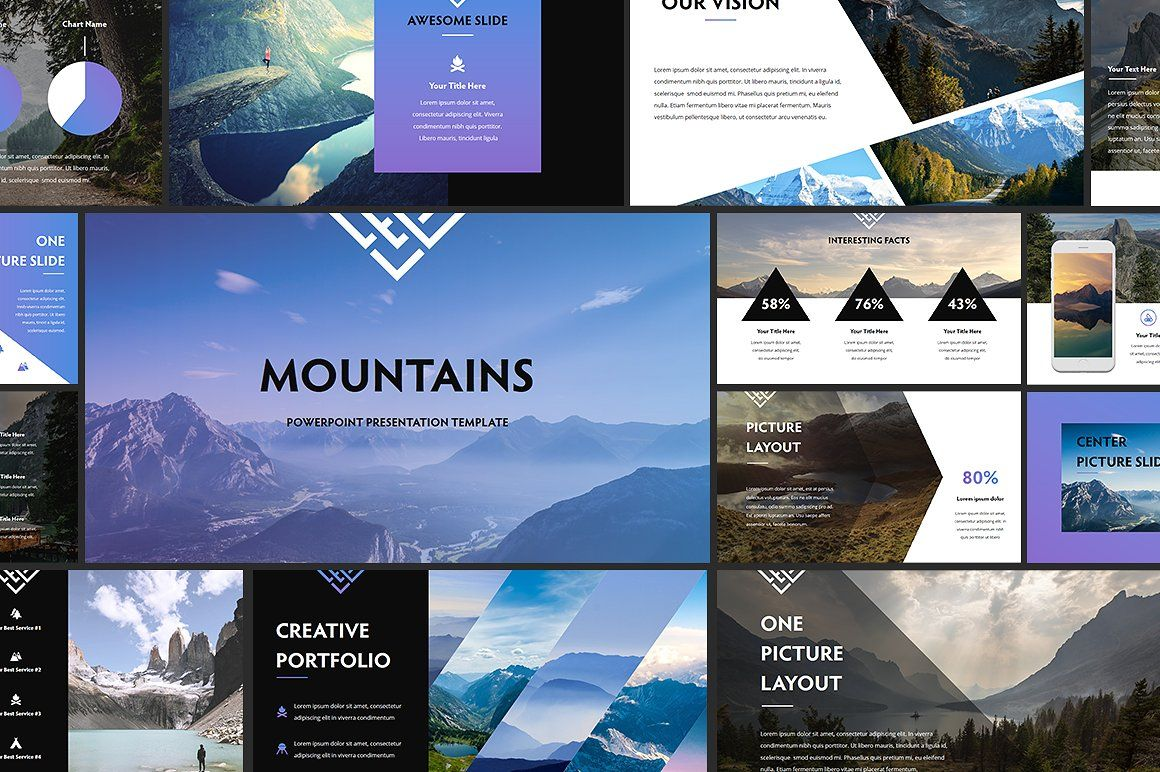 Mountains Powerpoint Template Powerpoint Templates