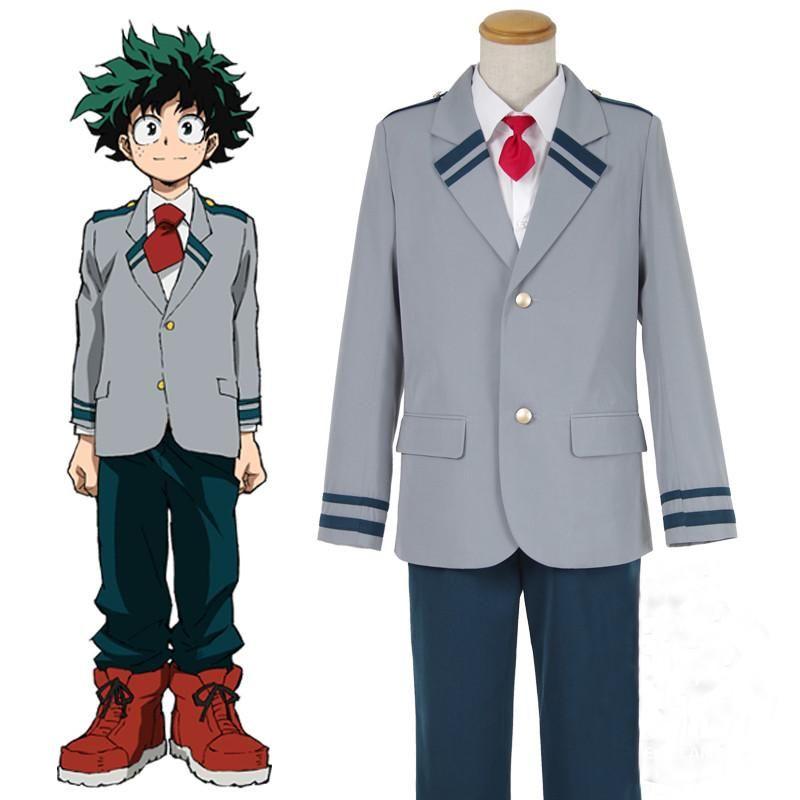 My Hero Academia Deku Izuku Midoriya Cosplay Costume School Uniform Bo   Cosplay costumes, Cosplay outfits, Cosplay