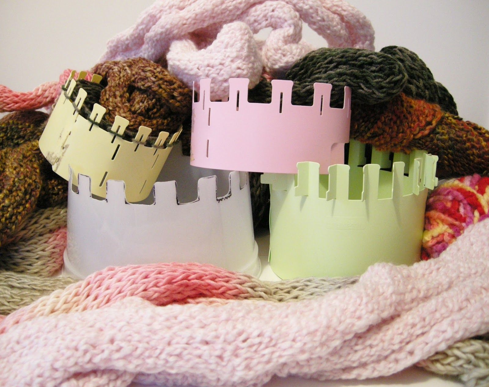 Make Your Own Spool Knitter From Repurposed Plastic Containers