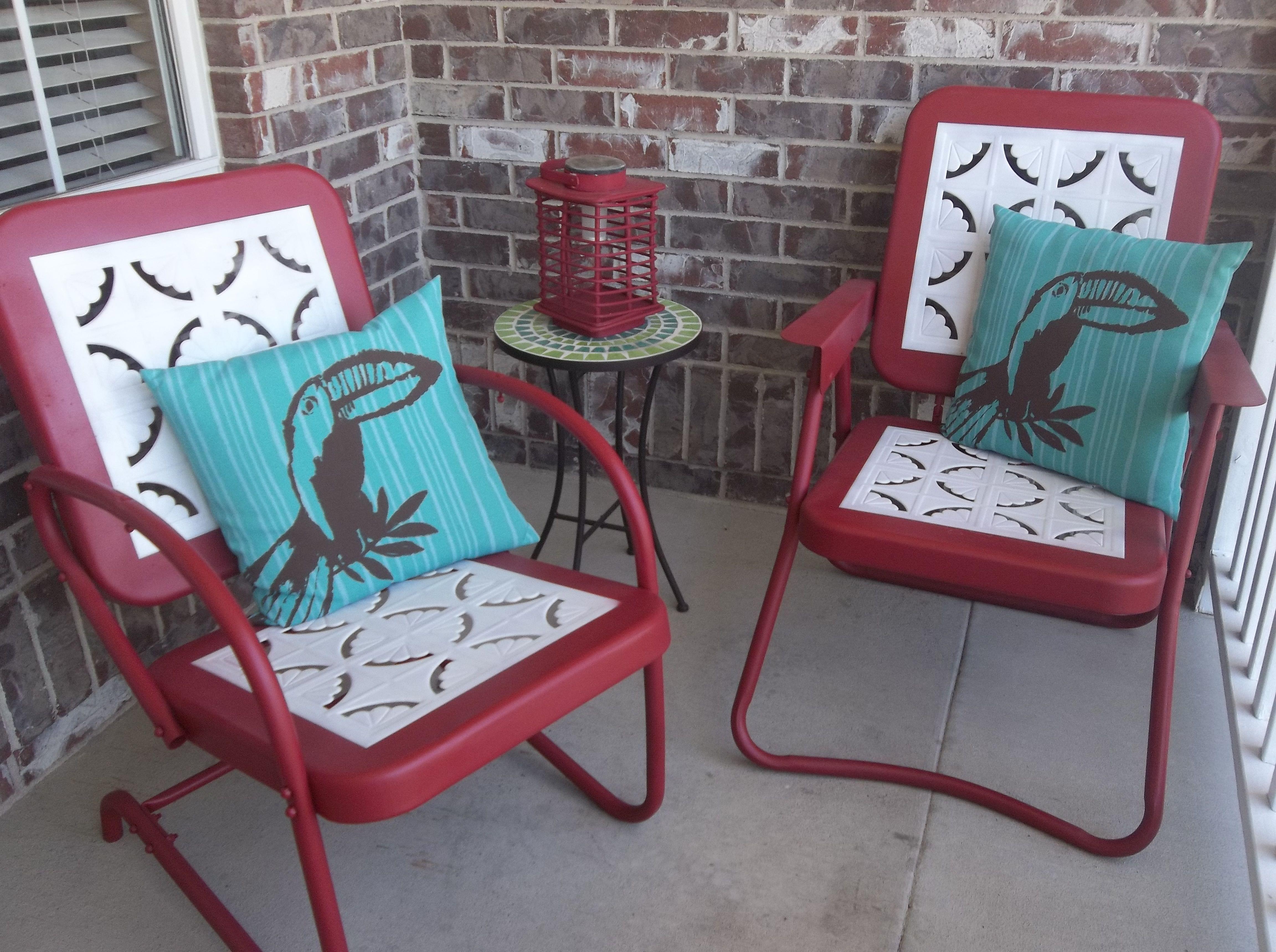 vintage metal rockers | Vintage Metal Chairs | Shabby ...