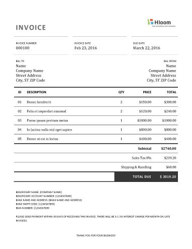 How To Make A Invoice Modern Minimalist Word Invoice Template  Invoice Templates .