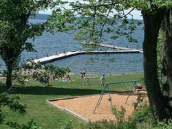 Waverly Park:  Public dock Picnic tables Guarded swimming beaches* Children's playground Gas fired barbeques allowed Benches R...