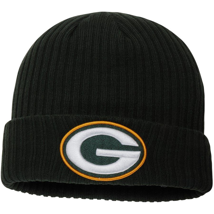 best service 58735 82ac5 Men s Green Bay Packers NFL Pro Line by Fanatics Branded Green Core  Elevated Cuffed Knit Hat