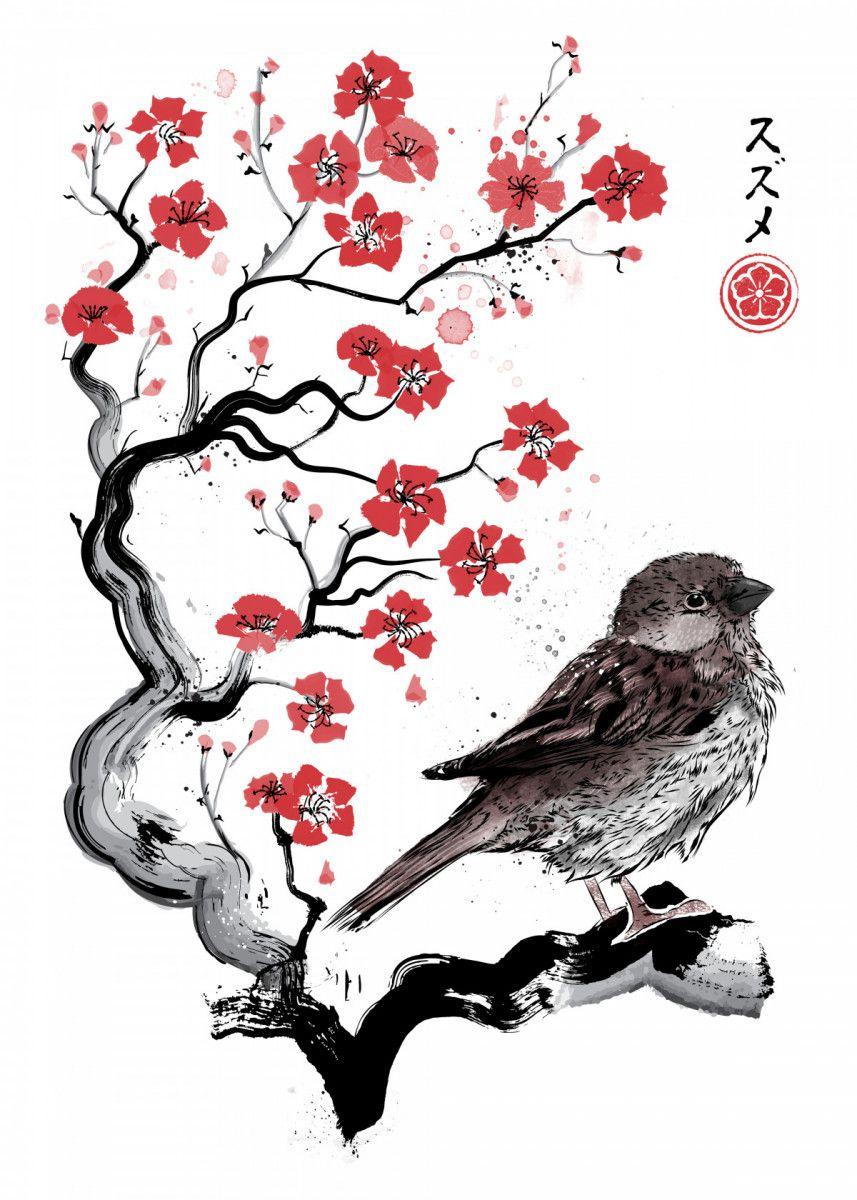 Little Sparrow sumie