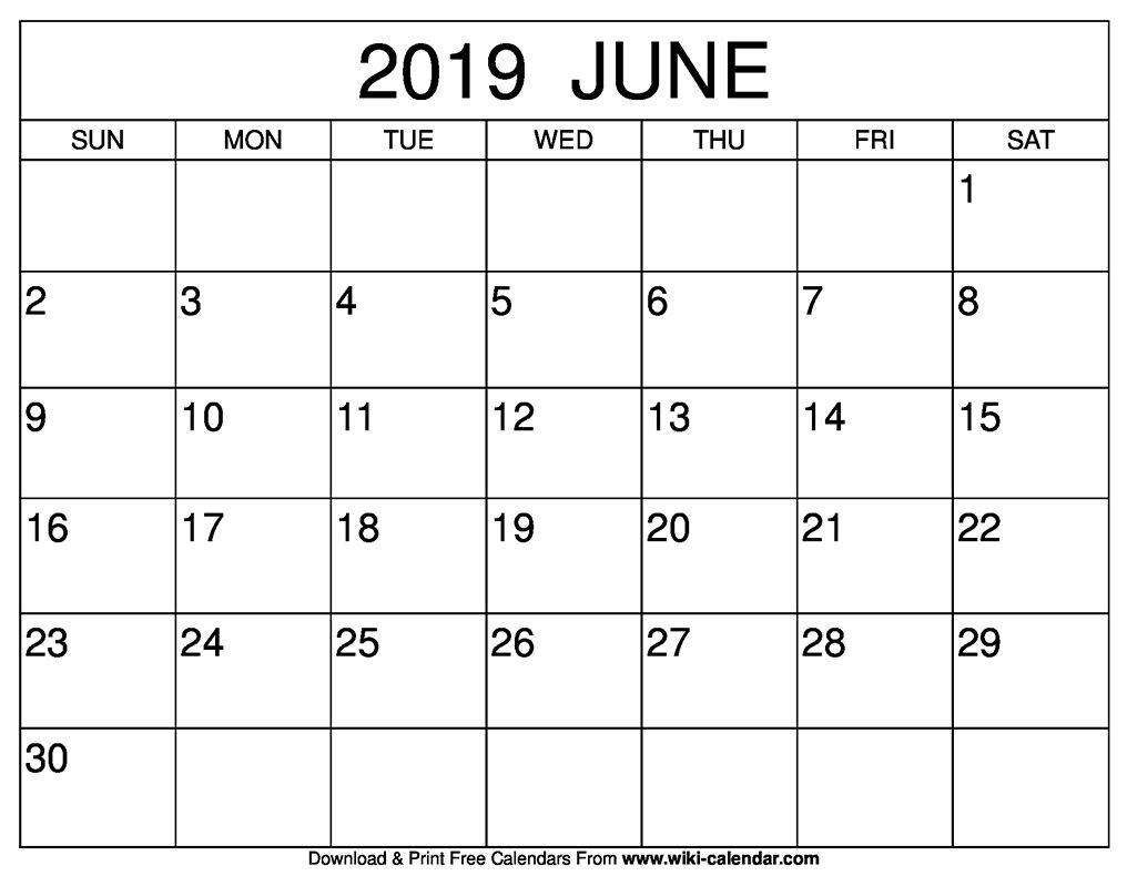 Free Printable June 2020 Calendars Calendar Template Printable
