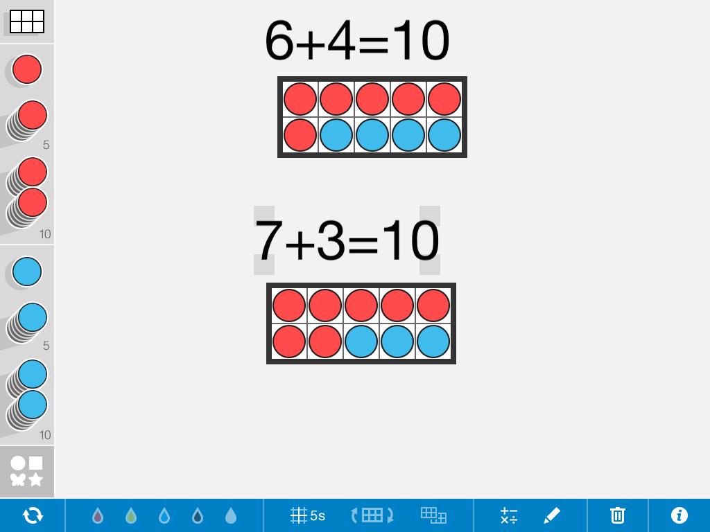 ten frames | Maths - Number | Pinterest | Ten frames, Math and Ipads