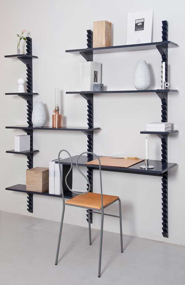 Wood Storage Shelf Design | Wall mounted shelving unit ...