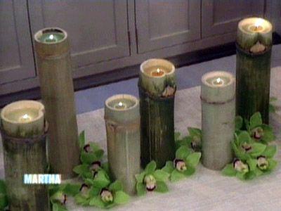 Bamboo Candles Bamboo Candle Bamboo Diy Bamboo Crafts
