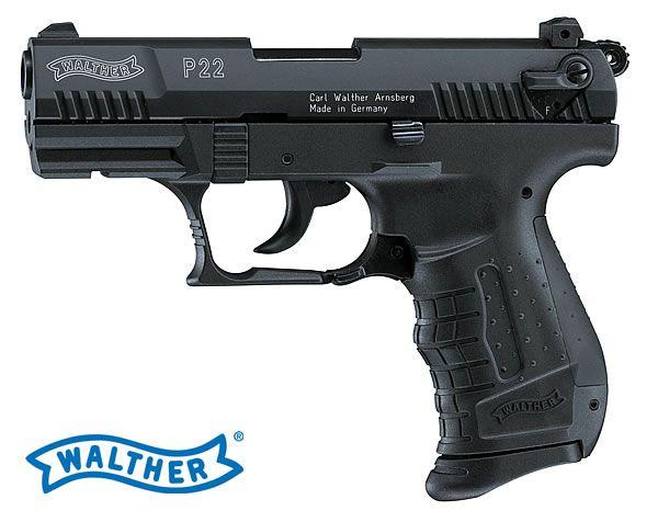Gaspistole Signalpistole WALTHER P22 brüniert, Kal. 9 mm P.A. (P18)